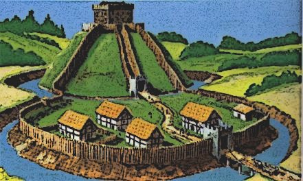 Early Medieval Motte Bailey Castle Design