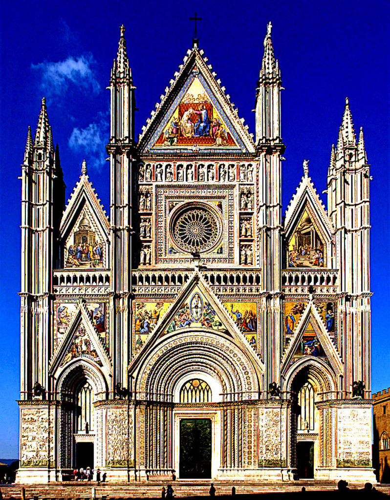 Medieval Italian Gothic Architecture Orvieto Cathedral Picture