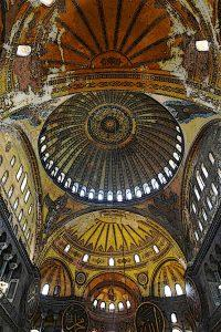 Byzantine-Architecture-Hagia-Sophia-The vaulting of the nave